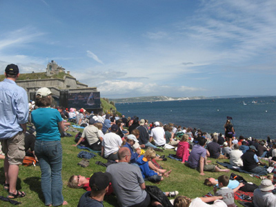 The Olympic Viewing area at the Nothe