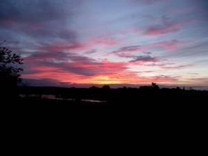 Sunrise over Radipole lake