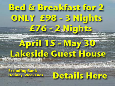 Lakeside May Offer B&B Only76 for 3 Nights